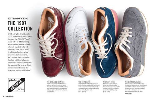 """Svelate le nuove Asics x Packer x J.Crew """"1907 collection"""""""