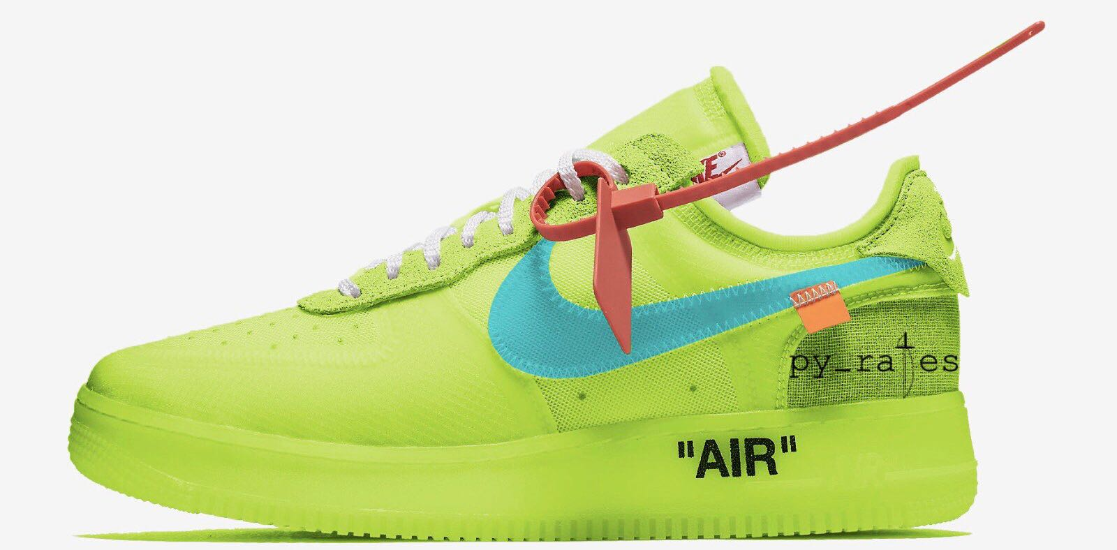 air force 1 gialle fluo