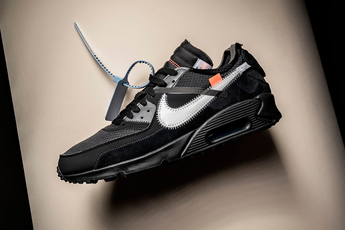 off bianca x nike air max 90 nero