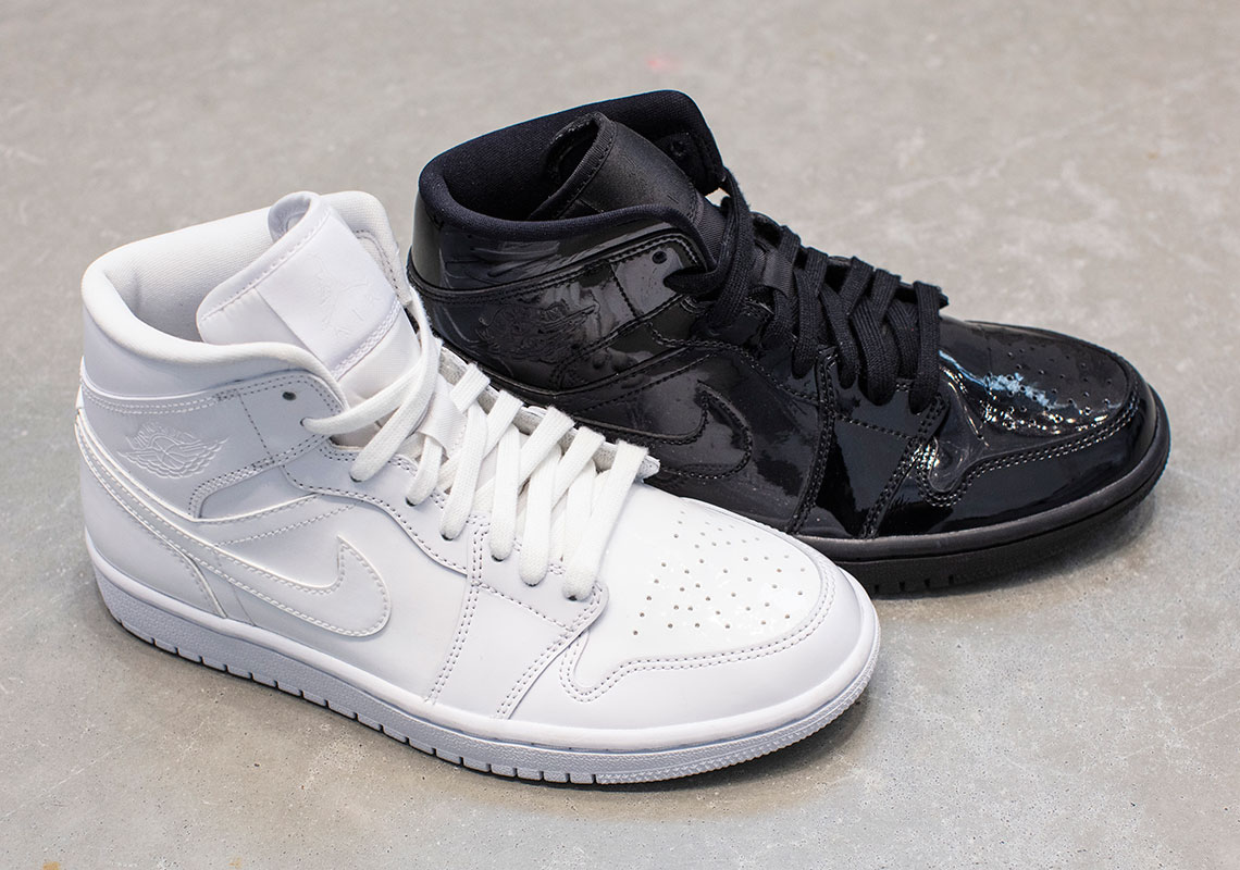 Ying e Yang: due Jordan 1 Mid in patent leather