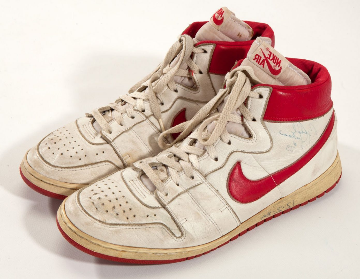 nike air ships white/red