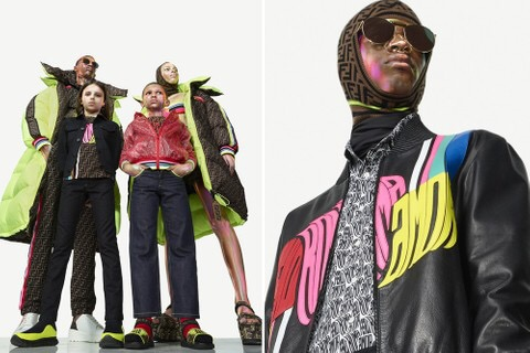 Fendi punta sui branding fluo nella capsule collection Roma Amor