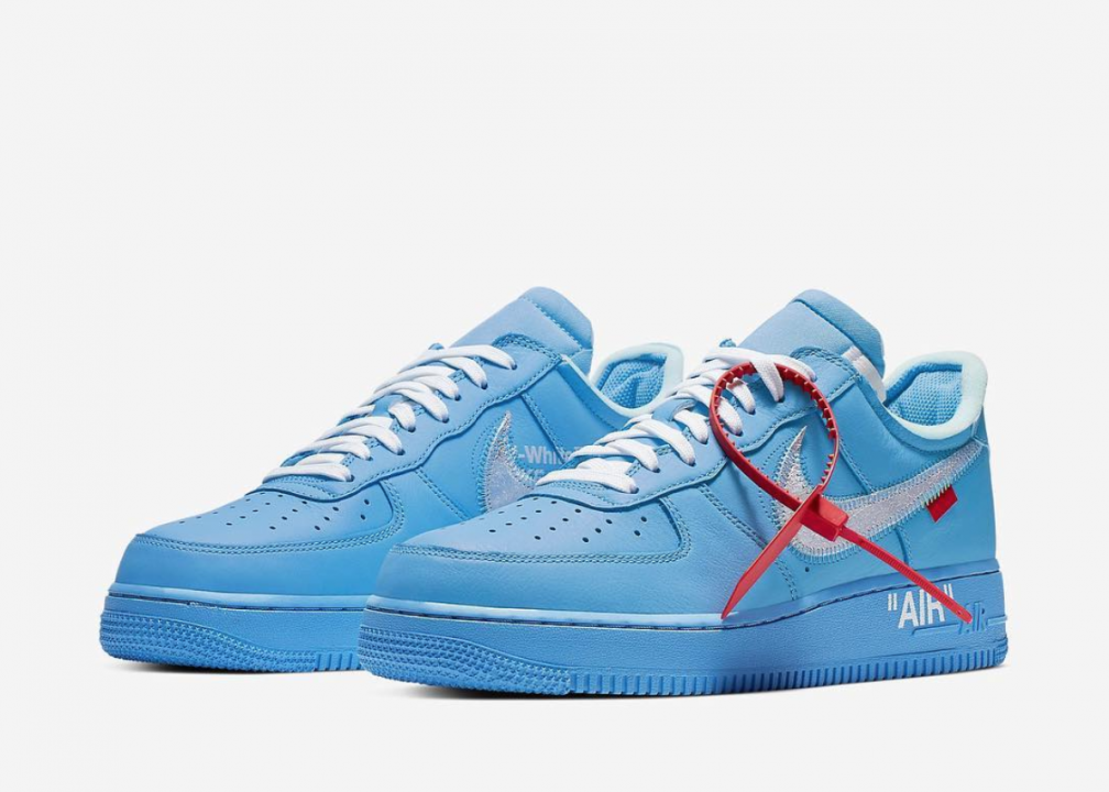 air force 1 bianche e blu
