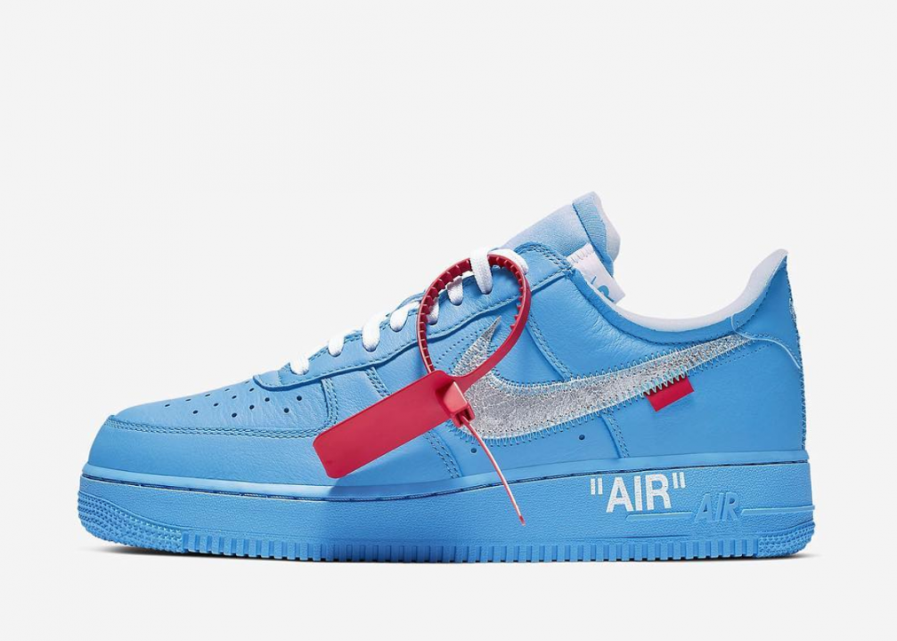 Off White x Nike Air Force 1 Blu: ecco quando e dove sarà
