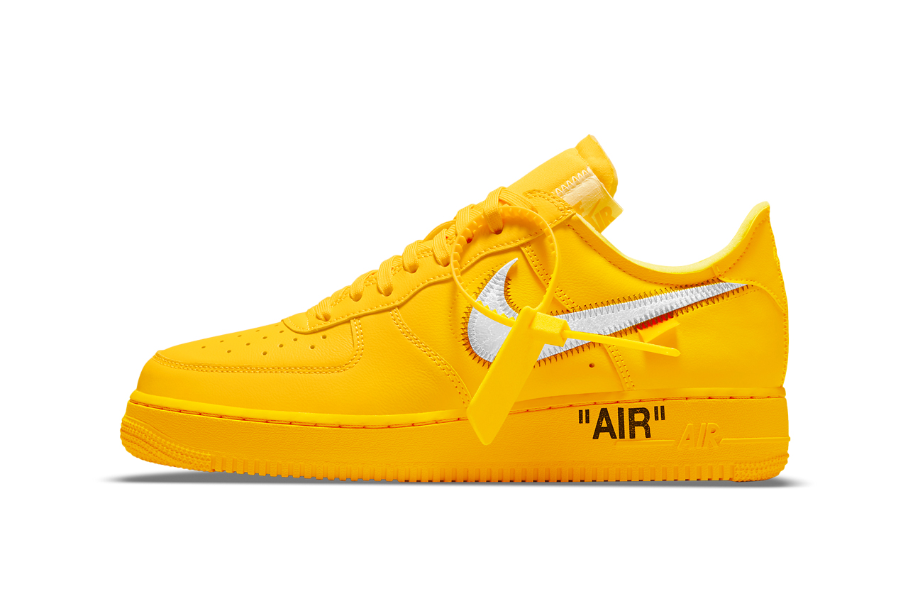 Off-White x Nike Air Force 1 University Gold: release date – Outpump